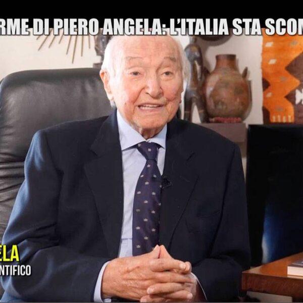 """piero angela iene 600x600 - L'allarme di Piero Angela: """"L'Italia sta scomparendo"""""""