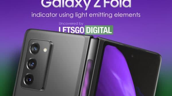 samsung galaxy z fold 3 600x337 - Samsung Galaxy Z Fold 3 potrebbe avere un indicatore sulla cerniera