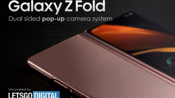 samsung galaxy z fold pop up camera 600x337 - Smartphone Samsung Galaxy Z Fold con fotocamera pop-up