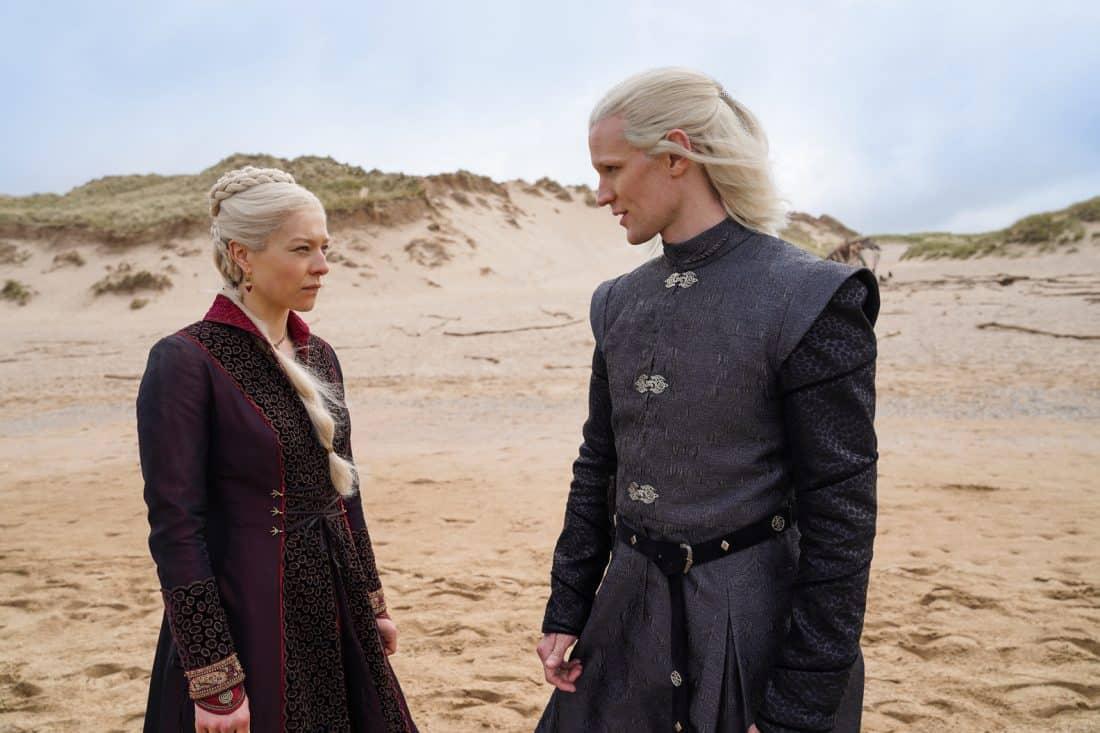 Emma D'Arcy nel ruolo della Principessa Rhaenyra Targaryen e Matt Smith in quello del Principe Daemon Targaryen